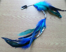 Long Beaded Feather Hair Clip/ Clip in hair extension/Feather extension! NEW