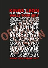 Kings Of Leon - Walls Tour - First Direct Arena, Leeds, 19/2/17 Set List Poster