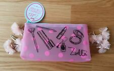 Zoella Beauty Tutti Fruity Pink Frosted Cosmetic Make Up Bag Coin Purse