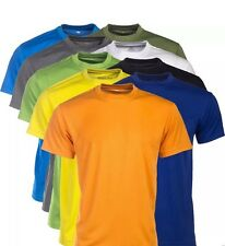NEW Men's T Shirt Plain Workout Gym Clothing Running Training Fitness Muscle Top
