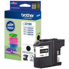 BROTHER GENUINO LC221BK CARTUCHO DE TINTA NEGRO (LC-221BK)