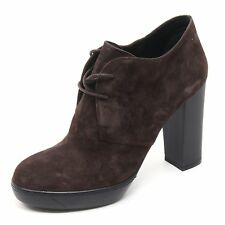 B5878 tronchetto donna HOGAN OPTY 273 POLACCO scarpa marrone shoe woman