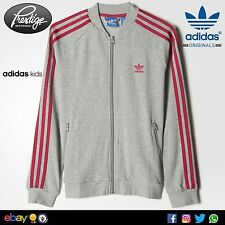 Giacca zip Adidas TRACK JACKET SST Tg: 5-6;6-7;12-13 Anni