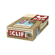 Clif Bar Energy Bar Box of 12 x 68g Bars Sports Nutrition White Chocolate Macad
