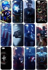 Case/Cover Captain America Apple iPhone 5 5s SE + Screen Protector / Hard Back