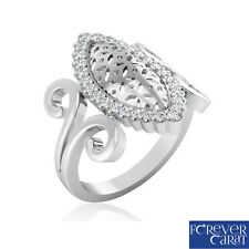 0.23Ct Certified Natural Diamond Paisley Ring 14K Hallmarked Gold Ring Jewellery