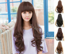 New Sexy Women Girl Long Wavy Cosplay Hair Curly Synthetic Party Anime Full Wig