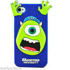 New 3D Soft Silicon Protective Gel Case for Samsung & iPhone Monster University