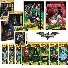 Lego Batman Movie Stationery Range / Notebooks Journals Erasers Pencil Toppers