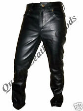 PREMIUM SYNTHETIC LEATHER MENS 501 STYLE COMFORTABLE LUXURY PANTS JEANS TROUSERS