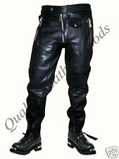 NEW  PREMIUM SYNTHETIC LEATHER MENS JEANS WITH SPANDEX PANTS TROUSERS BIKER