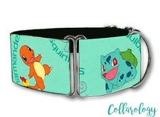 Pokemon characters martingale dog collar by COLLAROLOGY