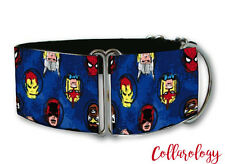 Marvel heads martingale dog collar by COLLAROLOGY