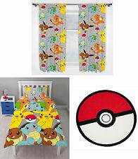 "Pokemon Go Catch Kids Single Duvet Bedding 66""x72"" Drop Curtains Rug 3 Choices"