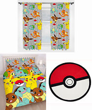 Pokemon Go Catch Kids Double Duvet Bedding 72 Inch Drop Curtains Rug 3 Choices