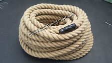 32mm 100% Natural Jute Rope Twisted Decking Cord Garden Boating Sash Camping
