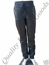 MEN SYNTHETIC SHEEP LEATHER JOGGER URBAN TWILL PANTS W/DRAWSTRING BREECHES