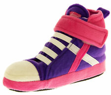 Girls Boys Kids High Hi Top Trainers Shoes Comfy Padded Boot Slippers Size 9-13