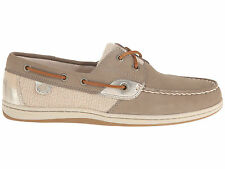Sperry Top Sider KOIFISH CORE Womens Taupe Leather Slip On Casual Moc Boat Shoes