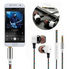 New National Style Strong Braided Earphones In Ear W/Mic Headphones Bass Headset
