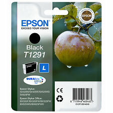 Genuino Epson Apple SERIE Cartucho de Tinta Negra T1291/C13T12914010