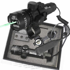 Pro Tactical Outside Adjusted Hunting Rifle Green Red Laser Sight Dot Scope New