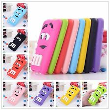 3D Cute m&m Silicone Rubber Case Cover Skin For iPod Touch 5 Gen