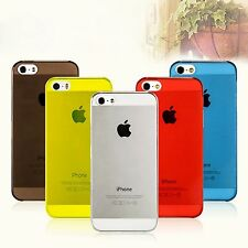 Ultra Slim Glossy Transparent Hard Plastic Back Case Cover Skin For iPhone 5C