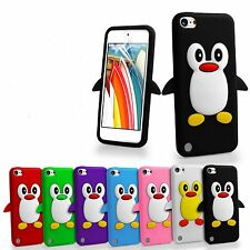 Colour Penguin Silicone Rubber Case Cover Skin For iPod Touch 5 Gen