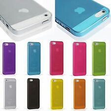 Ultra Slim Glossy Transparent Hard Plastic Back Case Cover Skin For iPhone 5S 5