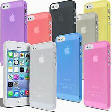 Ultra Slim Clear Transparent Hard Plastic Back Case Cover Skin For iPhone 5S 5