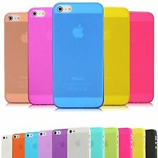 Ultra Thin Glossy Transparent Hard Plastic Back Case Cover Skin For iPhone 5S 5