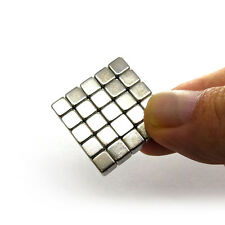 4 to 64 Pieces of 4mm x 4mm x 4mm Neodymium Magnets N52 Rare Earth NdfeB Cube