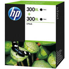 Original HP 300XL High Capacity Black Ink Cartridge Twin Pack (D8J43AE)