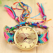 Vintage hippy bohemia Women Native Handmade Watch Knitted Dreamcatcher Friendshi