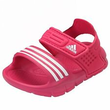 add4417aea3 adidas Akwah Infant Girls Sandals Hook And Loop Straps Beach Shoes Pink  Sizes