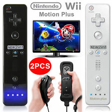 2PCS Remote Wiimote Nunchuck Controller Set Combo for Nintendo Wii Game