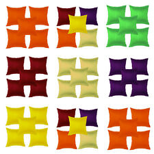 meSleep Combo-Set of 5 Multi Dupioni Cushion Cover (16x16) Inch