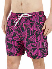 Calvin Klein Men's Abstract Print Logo Swimshorts, Black