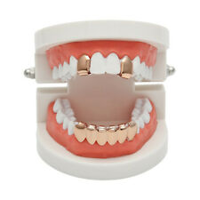 New Custom Fit  Gold Plated Hip Hop Teeth Grillz Caps Top & Bottom Grill Kit