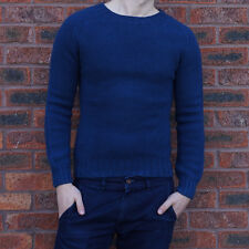 Tender Co. Type 725 Saddle Sleeve Pullover Jumper - Woad - Made in England