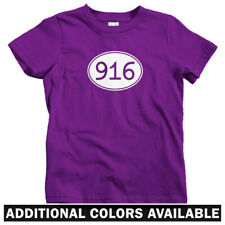 Area Code 916 Kids T-shirt - Baby Toddler Youth Tee  Sacramento Elk Grove Folsom