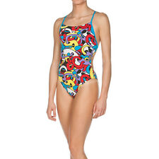 ARENA COSTUME CORES BOOSTER BACK ONE PIECE RED TURQUOISE MULTI