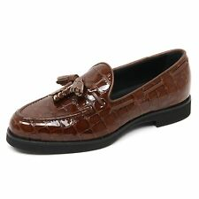 B9022 mocassino donna TOD'S scarpa nappine marrone loafer shoe woman