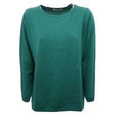 B7816 maglione donna KANGRA CASHMERE verde sweater woman