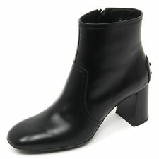 B9130 tronchetto donna TOD'S gomma T70 scarpa nero shoe boot woman