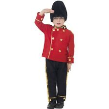 Boy's Busby Guard Fancy Dress Costume Queen's Guard Of Honour World Book Party