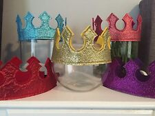 Photo Booth Prop Glitter Queen King Crown Costume Fancy DressUp Party Adult Kids