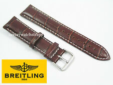 LEATHER BUCKLE WATCH STRAP FOR BREITLING SUPEROCEAN NAVITIMER COLT BENTLEY