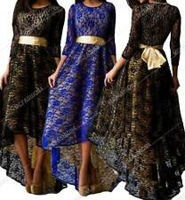 Sexy Summer Womens Lace Floral Long Dress Cocktail Party Evening Dress Formal Pr